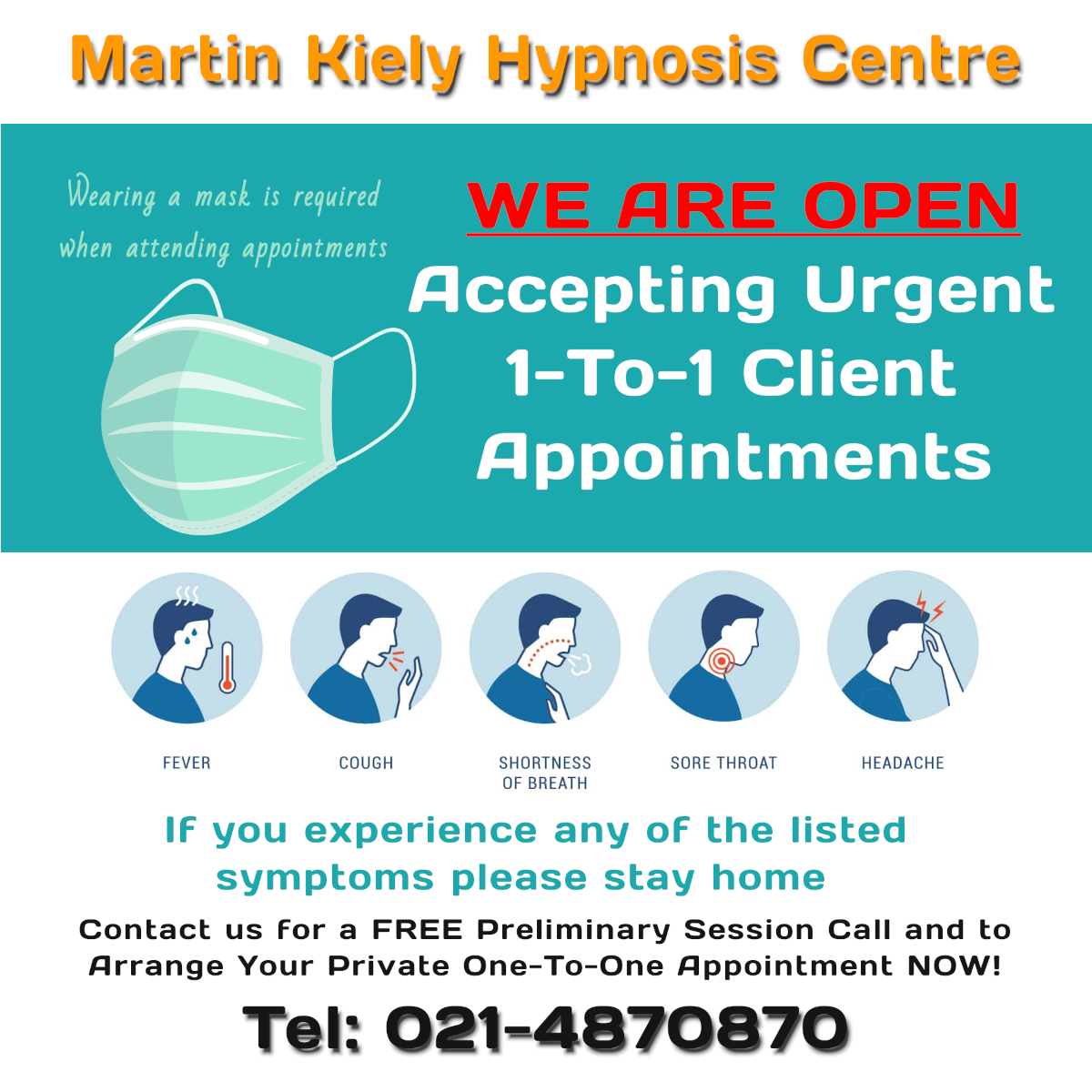 Hypnosis Hypnotherapy Cork, Ireland Appointments